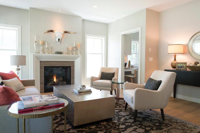 modern cape cod beach style living room minneapolis