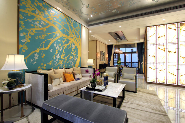 Asian style living room she, never