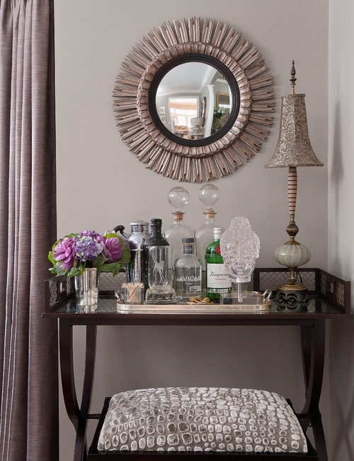 Fill an empty corner of a room with a decorated bar cart! See all 15 CREATIVE ways to use and style a bar cart in your home.
