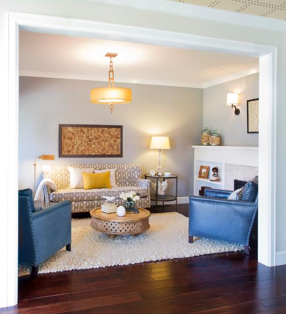 modern coastal transitional living room los angeles