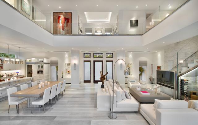 Modern Coastal Home Beach Style Living Room Miami By MHK