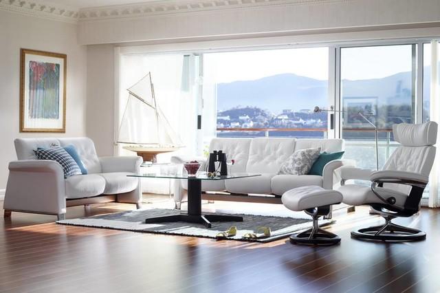 Modern coastal living room modern living room by stressless