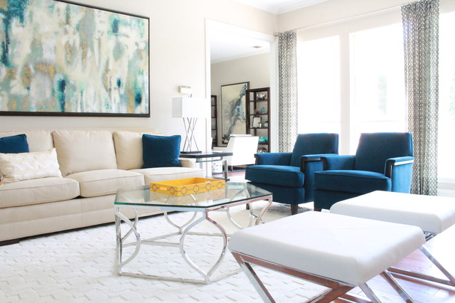 Modern Colorful Abode contemporary-living-room