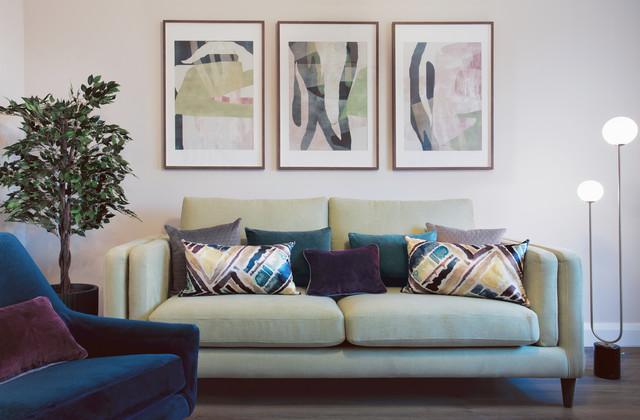 Living room - contemporary living room idea in Dublin