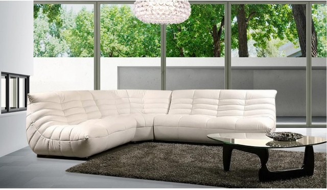 Modern Comfortable Leather Sectional Sofa Modern Living Room