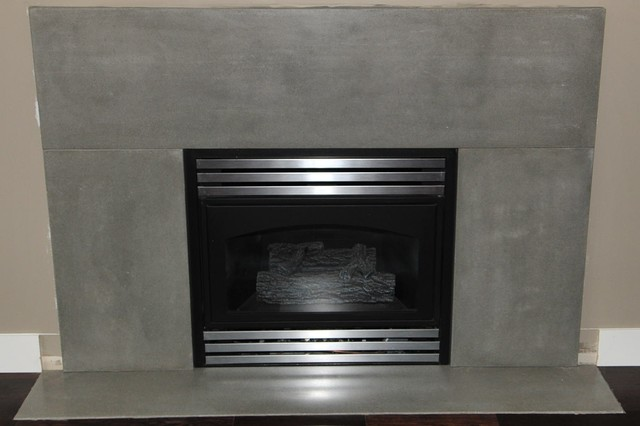 Modern Concrete Fireplace Surrounds Contemporary