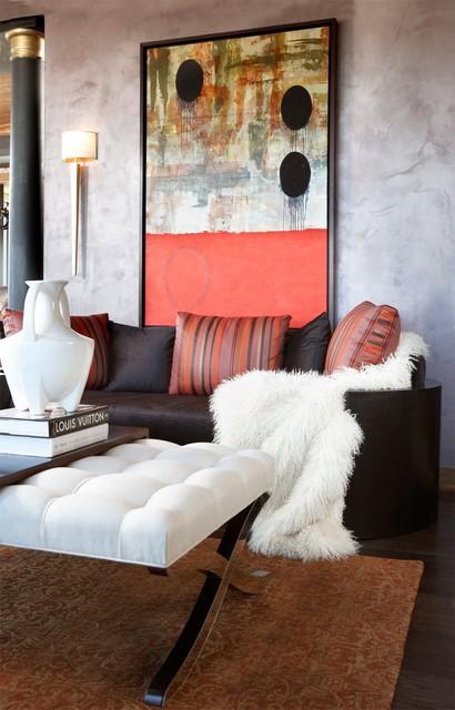 Modern Condo modern-living-room