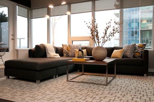 Modern Condo Renovation contemporary-living-room