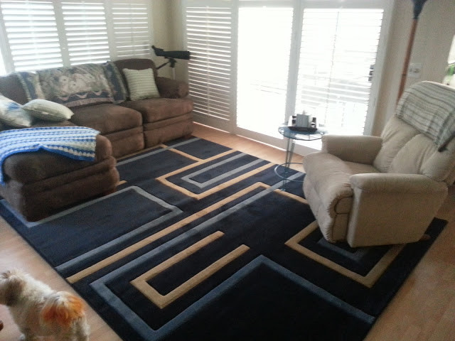 Modern Contemporary Blue Rug For Living Room Modern Living Room Other