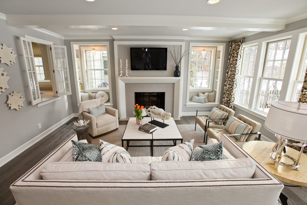Inspiration for a contemporary living room remodel in Minneapolis