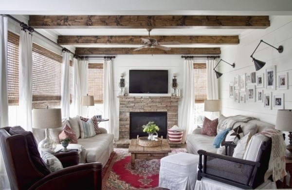 Modern Country Living Room Eclectic Living Room Atlanta By