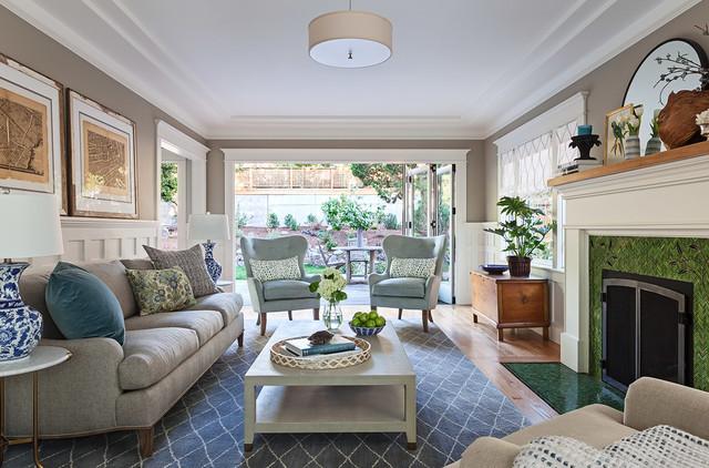 Modern Craftsman - Traditional - Living Room - San ...