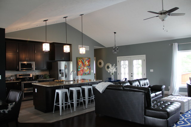 Modern Craftsman Style Home craftsman-living-room