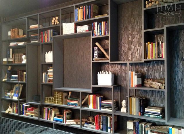 Modern Custom Bookshelf Contemporary Living Room