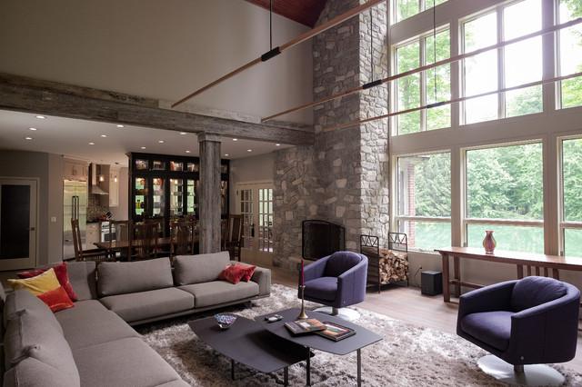Modern day ranch for Modern day living room
