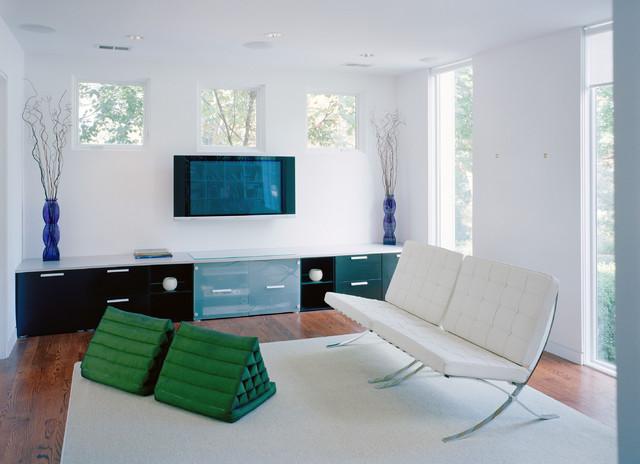 Modern Delight in Bethesda modern-living-room