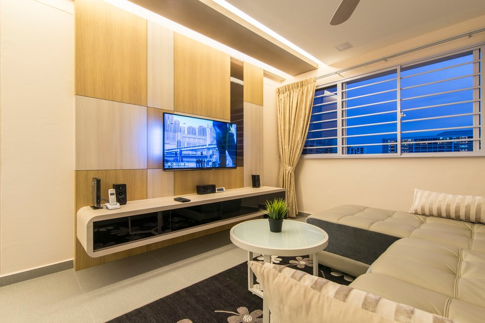 Modern Design Tampines Hdb 4 Room Modern Living Room Singapore By Ace Space Design