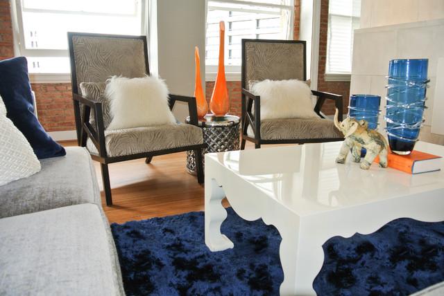 Janice's Ft. Worth Loft contemporary-living-room
