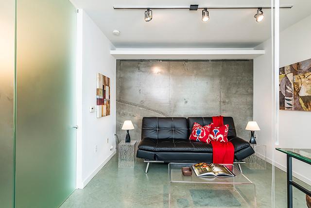 Modern Downtown Studio Apartment Modern Living Room