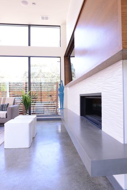 Modern Edge contemporary-living-room