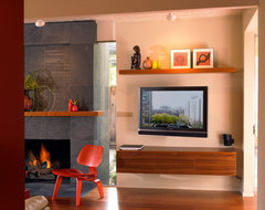 Modern Eichler Living Room eclectic living room