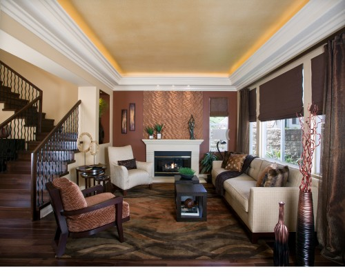 Can you acheive this kind of ceiling with onyl 8 foot for Living room with 9 foot ceilings