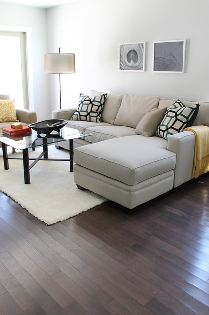 Modern family room in neutral tones contemporary for Neutral living rooms gallery