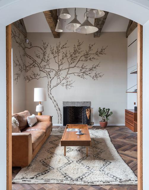 Modern Farm House Transitional Living Room Boston By Bunsa Studio Llc