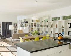 Contemporary Vermont Farm House farmhouse-living-room