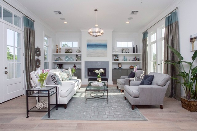 Modern Farmhouse Audubon Square Transitional Living