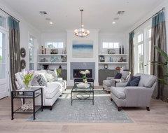 Modern Farmhouse - Audubon Square transitional-living-room