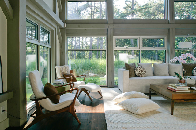 Modern farmhouse farmhouse living room new york by for Modern farmhouse windows