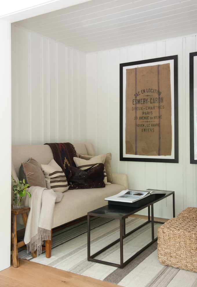 Inspiration for a farmhouse living room remodel in New York