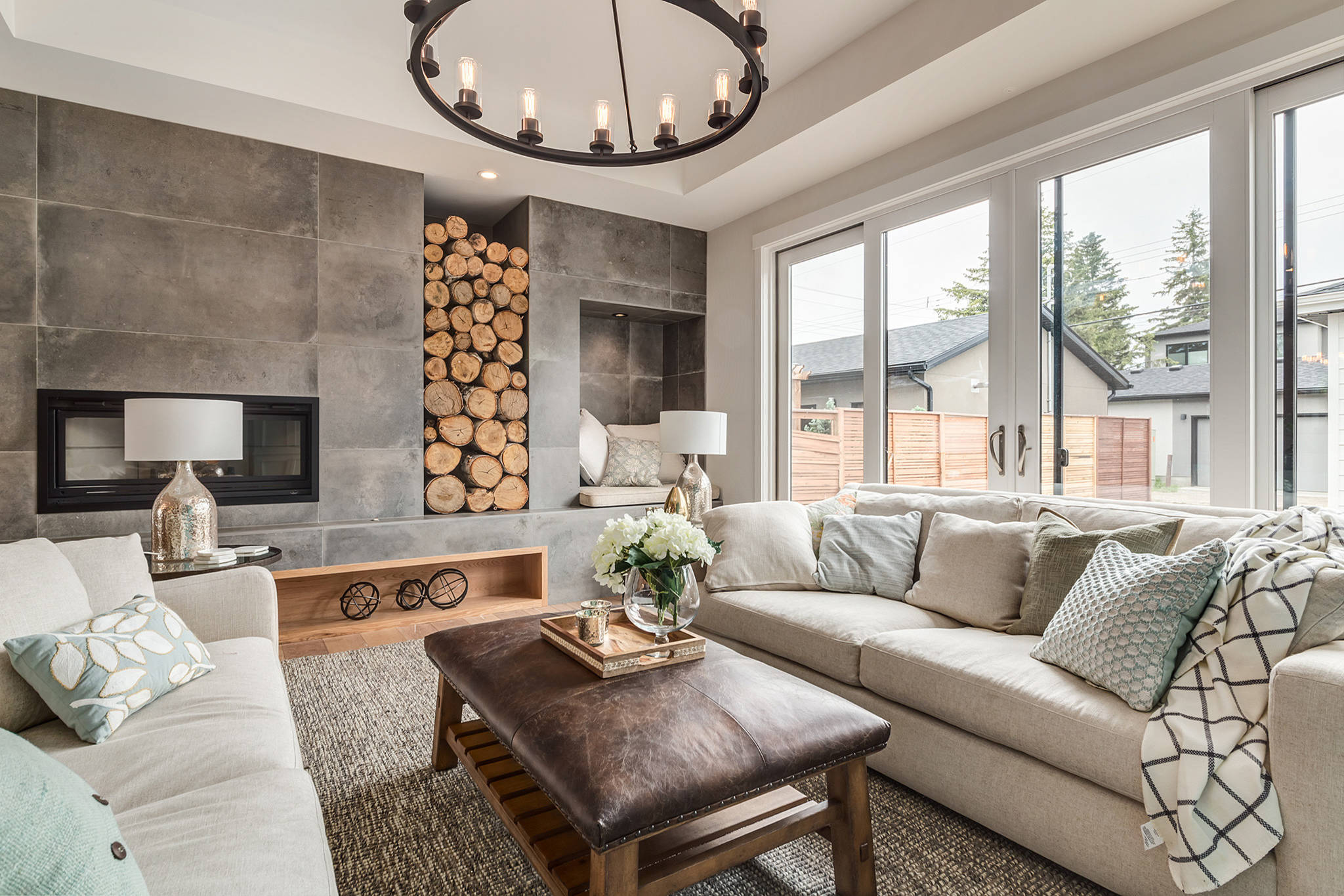 75 Beautiful Farmhouse Living Room With A Wood Stove Pictures Ideas December 2020 Houzz