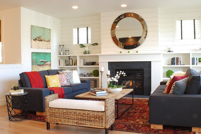 Modern farmhouse living room - Modern farmhouse living room ...