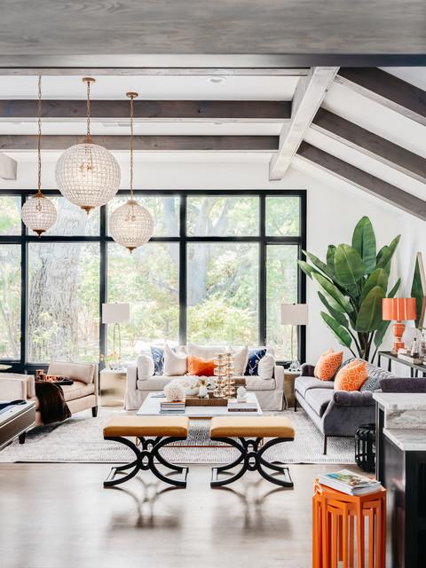 Modern Farmhouse Saratoga - Country - Living Room - San ...