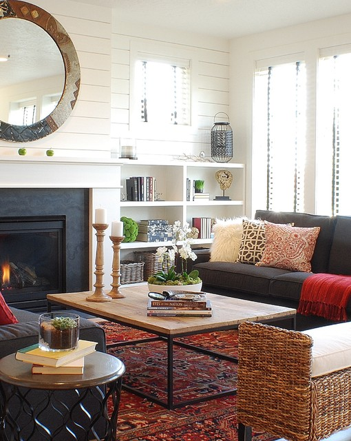 Modern farmhouse spring parade of homes house farmhouse living room