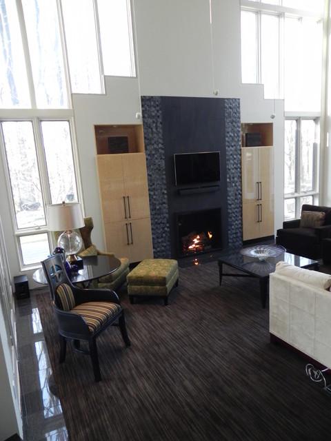 Modern Fireplace contemporary-living-room