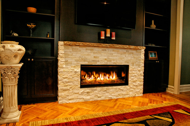 Living Room With Fireplace. Beautiful Fireplace Charming Living ...