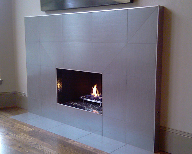 Modern Fireplace Modern Living Room Dallas By