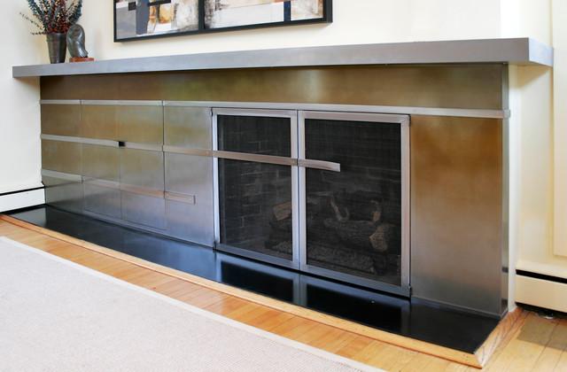 Modern Fireplaces - Modern - Living Room - dc metro - by Girardini Design
