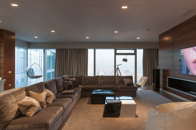 modern flat in the city contemporary-living-room