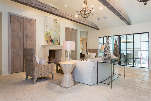 Modern French in Tarrytown traditional-living-room