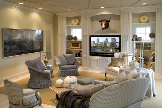 Rowland Design eclectic-living-room