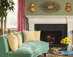 Modern Glam Dwelling transitional-living-room