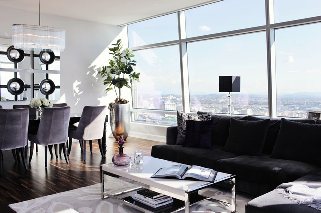Modern glam luxury condo modern living room other for Glam modern living room