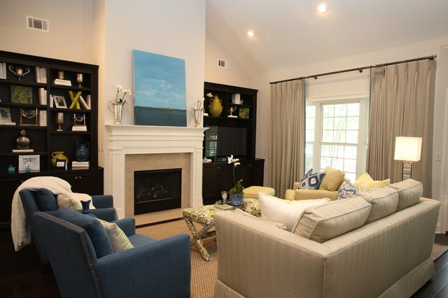 Modern Glamour Traditional Living Room Atlanta By