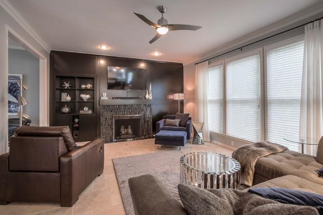 Modern Great Room By KGK Designs Kansas City Living