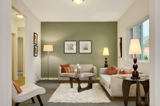 Modern Green Seattle Remodel transitional-living-room