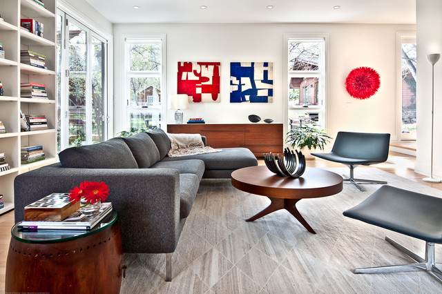 modern living room by Kimberly Demmy Design